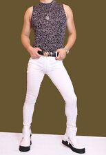 Men Sexy Skinny Pants Tight Trousers Casual Jeans Slim Fit Pocket Stylish