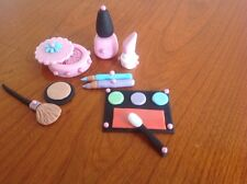 Hecho A Mano Set Maquillaje Cake Topper Comestible