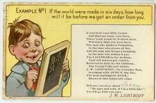 1908 Jung's Products salesman J W Lightbody calling pc Topeka Kansas Dept. Store