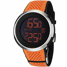 Gucci I-Gucci Sport XXL Black Digital Dial Orange Rubber Strap Men's Watch