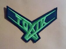 TOXIK,SEW ON GREEN  EMBROIDERED PATCH