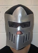 BLACK & SILVER MEXICAN LUCHA LIBRE LUCHADOR ADULT WRESTLING MASK KNIGHT ARMOUR