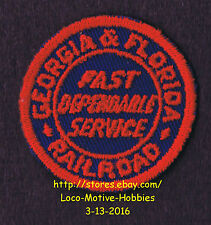 LMH Patch GEORGIA % FLORIDA Railroad G&F GF Railway FAST DEPENDABLE SERVICE used