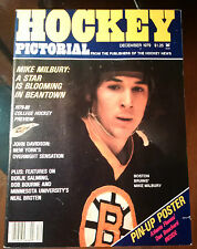 """HOCKEY PICTORIAL DEC 1979 MIKE MILBURY, BOBBY ORR HALL OF FAME, BORJE SALMING"""