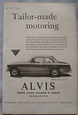 1959 alvis 3 litre saloon & drop head coupe original publicité lumineuse No.2