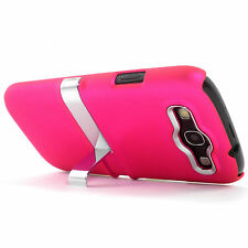 Deluxe Pink Hard Case Cover With Chrome Stand Samsung Galaxy S3 SIII i9300 NEW