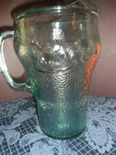 VINTAGE COCA-COLA  HEAVY GREEN TINT PITCHER EUC