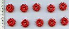 LEGO x 10 Red Technic, Gear 16 Tooth with Clutch on Both Sides NEW