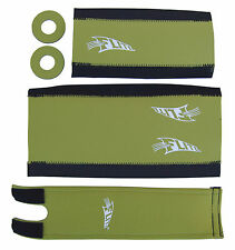 FLITE NEO mid school BMX neoprene foam padset pads*LIMITED EDITION* OLIVE GREEN