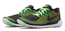Nike Free 5.0 Print women's size 8 sneakers in green, orange & black  – 50% off
