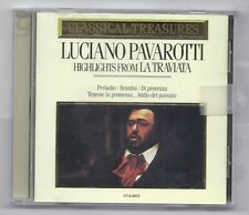 Classical Treasures Luciano Pavarotti Hightlights From La Traviata CD