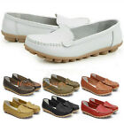 Womens Casual Comfy Leather Walking Flats Flat Slip Moccasin Shoes Loafers