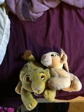 simba and nala plush lion king lot disney broadway the movie collection vintage