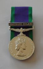 Court Mounted Full Size GSM Medal with Northern Ireland Clasp, Army, Military