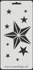 Scrapbooking Schablone S-122  Sterne ~ Stencil ~ UMR-Design