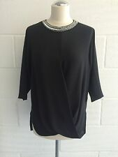 BNWT MICHAEL MICHAEL KORS Women's Black Silk Top Blouse Shirt size S