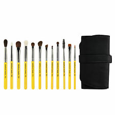 Bdellium Tools Travel Line Cosmetic Makeup Brush Eye Set 12 Piece Set with Pouch