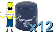 Premium Oil Filter Ecogard X4612 Replaces Fram PH6607 L14612 PH4612 Case of 12