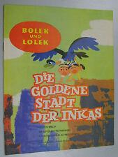 """Bolek und Lolek """" Die goldene Stadt der Inkas """" Kinderzeitschrift DDR L Mech"""