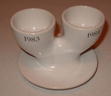 Novelty Double Egg Cup Made by Pex with unusual 1983-1984 Imprint