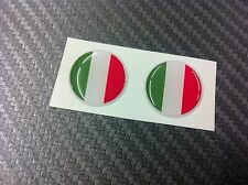 2 Adesivi Resinati Sticker 3D ITALIA 20 mm