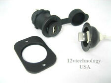 USB Charger Adapter Plug  Boot Socket 12 V Outlet Power  Motorcycles iPhone