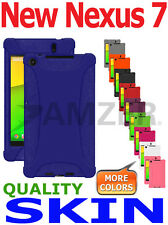 Amzer Silicone Skin Jelly Case Cover Asus Google NEW NEXUS 7 2013 2nd Gen - Blue