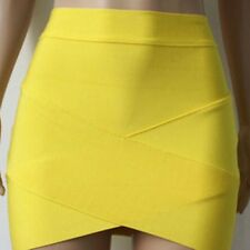 Women's Bandage Bodycon Pencil Skirt Clubwear Tight Mini Skirt Plain Wrap Dress