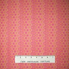 Circle Fabric - Butterflies Pink & Orange Stripe - Lyndhurst OOP YARD