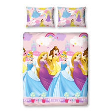 Disney Prinzessinen Enchanting Doppel Bettwäsche 200x200 Bettgarnitur Set neu