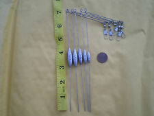 "10 SMALL BOTTOM BOUNCER SINKER 1/4 OZ. W/STAINLESS S. WIRE .041X7"" LEG X3"" ARM"
