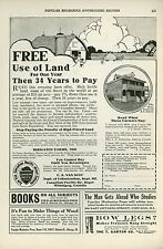 1927 Canadian Pacific Railway Ad Farm Land For Sale Canada Railroad Farmers