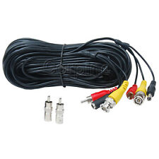 50ft Audio Video Power Security Camera Cable DVR CCTV Surveillance RCA Wire 1JC