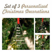 Personalised Christmas Acrylic Tree Decorations
