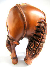 "1940s  - 2"" Hand carved Boxwood carving Netsuke - Handsome Horse"