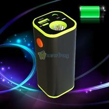 Practical Dual USB 18650 Battery Power Bank Box Torch For Cell Phone Tablet PC