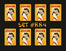 Mah Jongg Jong Mahjong Joker Stickers - Set #884  ** Free Shipping **