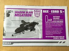 Transformers Animated MEGATRON instructions book manual shadow blade