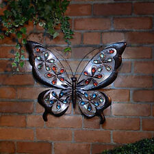 Solar Powered Solar Butterfly Garden Wall Art Light Home Decoration Ornament