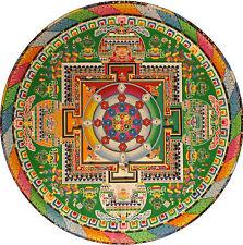 Enmarcado impresión colorido mandala budista (imagen Religión Buda Budismo Art)