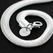 AN719 GENUINE REAL 925 STERLING SILVER S/F SOLID ITALIAN PENDANT NECKLACE CHAIN