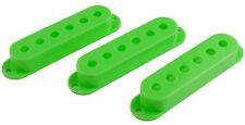 FENDER STRATOCASTER STRAT STYLE GUITAR PICKUP COVERS SET OF 3 (GREEN) VAI *NEW*