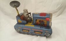 Vintage Scarce Japan Tin Radar Tractor Robot Mystery Action Complete Working HTF