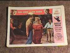 LAST SUNSET 1961 LOBBY CARD #8 WESTERN ROCK HUDSON