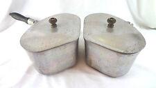 Vintage Super Maid Aluminum Pot Cookware Set of 2 Triangle - One w/ Handle