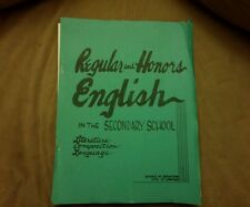 A curriculum teaching guide for English..Board of Education City of Chicago 1962