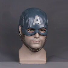 Halloween Captain America Steven Cosplay Helmet Fancy Ball Soft Latex Mask Props