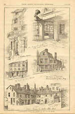 Boston, MA. Nooks & Corners Of The City, Revere Home, 1883 Antique Art Print.