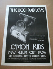 the Boo Radleys - C'Mon Kids 1997 Trade Music advert poster A3 16 x 12 ins
