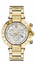 Versace Men's VQZ080015 REVE CHRONO Gold IP Stainless Steel Date Wristwatch